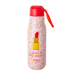 Drikkedunk i rustfrit stål, small flower and lipstick - 500 ml
