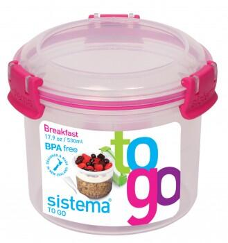 Breakfast to go, klar pink - 530 ml
