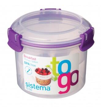 Breakfast to go, klar lilla - 530 ml