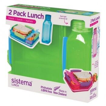 Lunch pack med square dunk - 2-pack